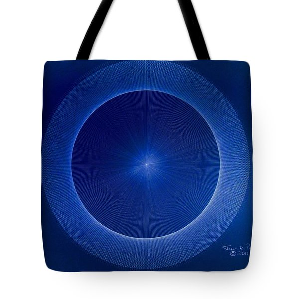 Towards Pi 3.141552779 Hand Drawn Tote Bag by Jason Padgett