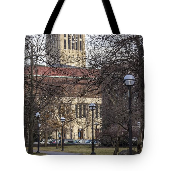 Tower At U Of M Tote Bag by John McGraw