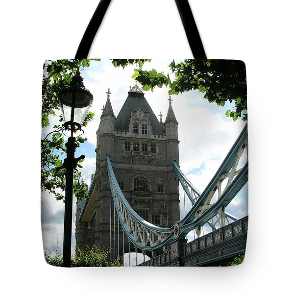 Tower Bridge Tote Bag by Bev Conover