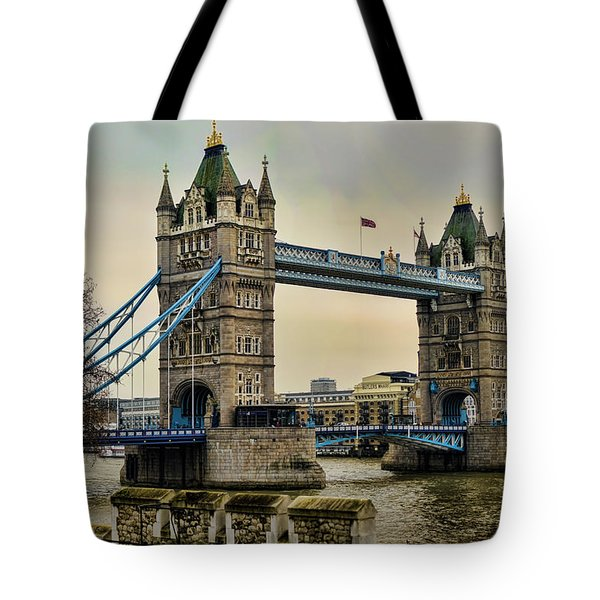 Tower Bridge On The River Thames Tote Bag by Heather Applegate