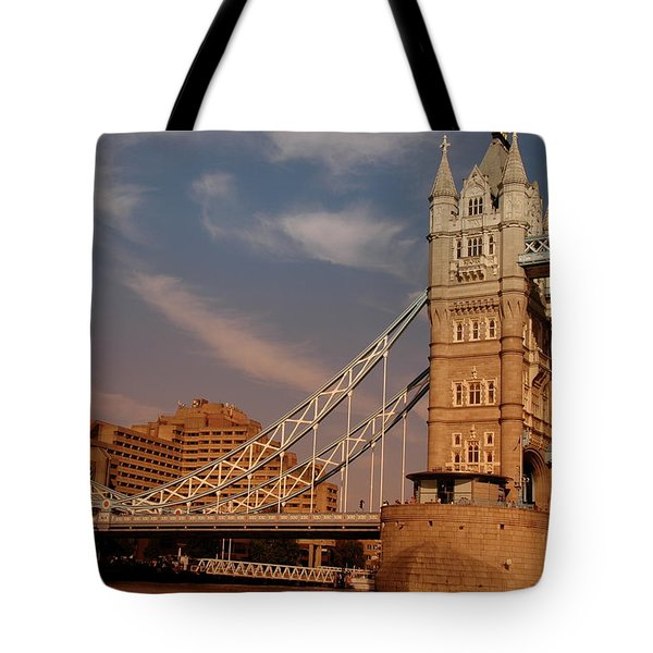 Tower Bridge Sunset Tote Bag by Jonah  Anderson