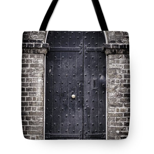 Tower Door Tote Bag by Heather Applegate