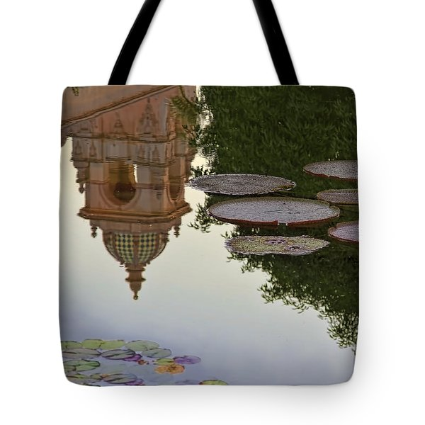 Tote Bag featuring the photograph Tower In Lotus Position by Gary Holmes