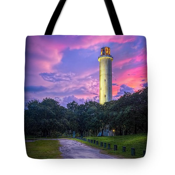 Tower In Sulfur Springs Tote Bag by Marvin Spates