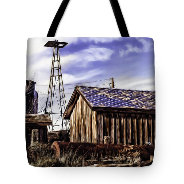 Tote Bag featuring the painting Tower by Muhie Kanawati