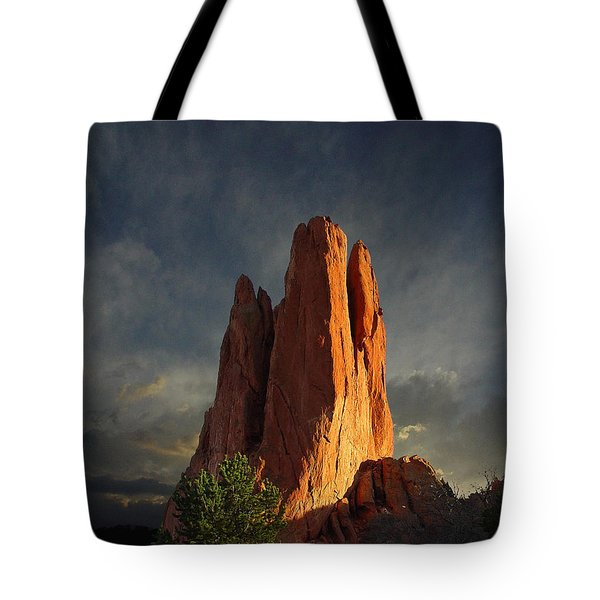 Tower Of Babel At Sunset Tote Bag