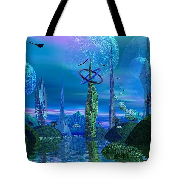 Tower Of Hurn Tote Bag by Mark Blauhoefer