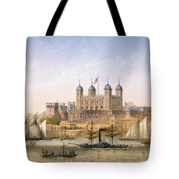 Tower Of London, 1862 Tote Bag by Achille-Louis Martinet