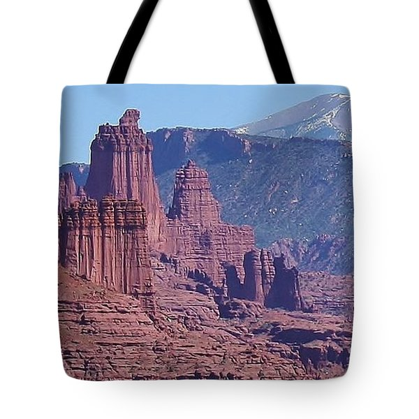 Tote Bag featuring the photograph Towering Rockformations by Bruce Bley