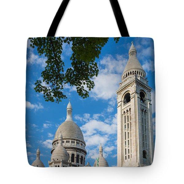 Towering Sacre-coeur Tote Bag by Inge Johnsson