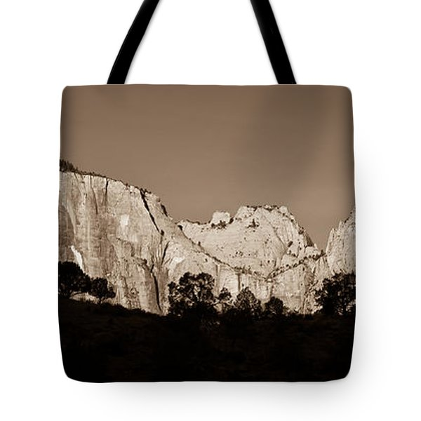 Towers Of The Virgin Tote Bag by Adam Romanowicz