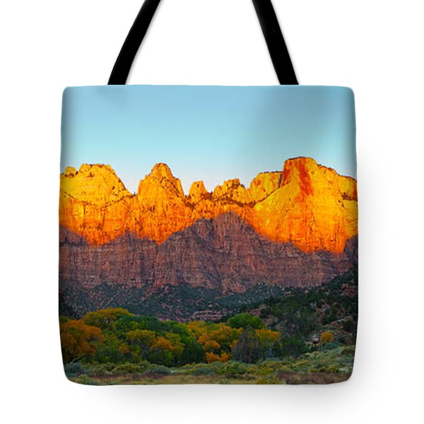Towers Of The Virgin And The West Tote Bag by Panoramic Images