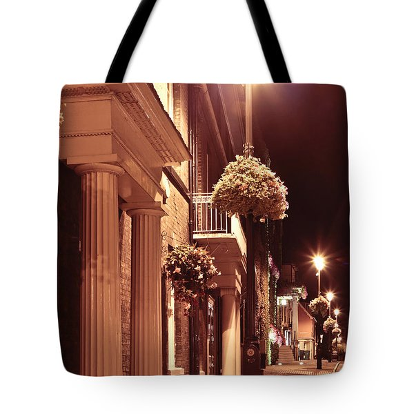 Town At Night Tote Bag by Tom Gowanlock