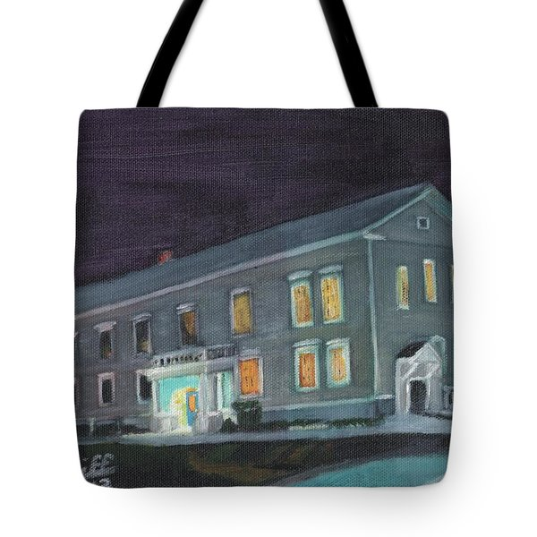 Town Hall At Night Tote Bag
