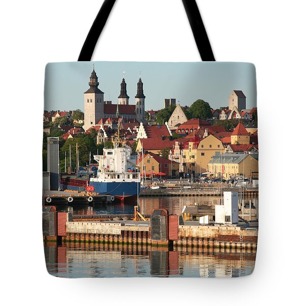 Town Harbour Tote Bag