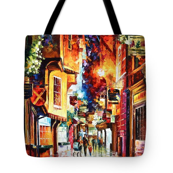 Town In England Tote Bag by Leonid Afremov