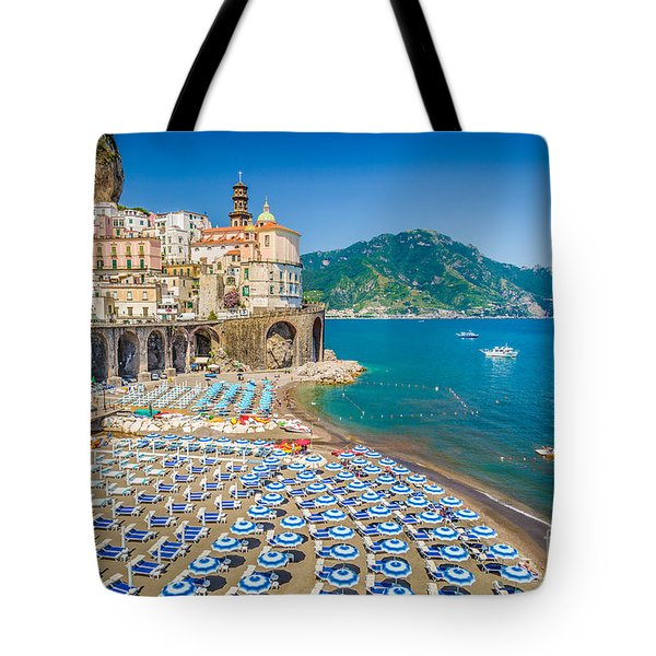 Town Of Atrani Tote Bag