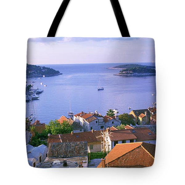 Town On The Waterfront, Hvar Island Tote Bag