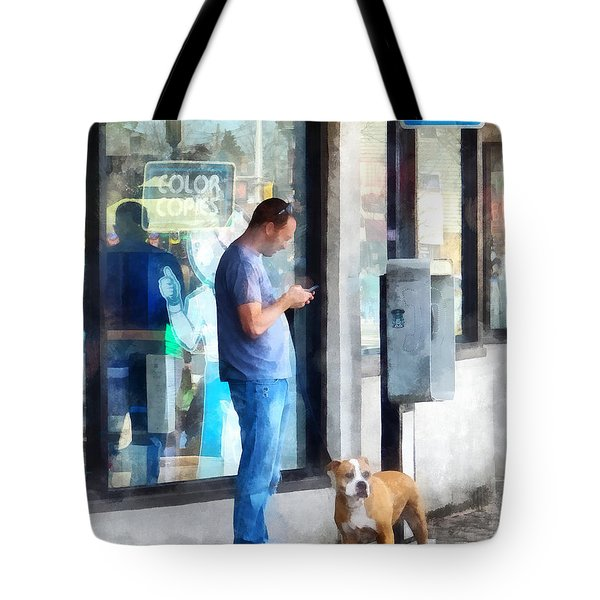 Towns - Pay Phone Tote Bag by Susan Savad