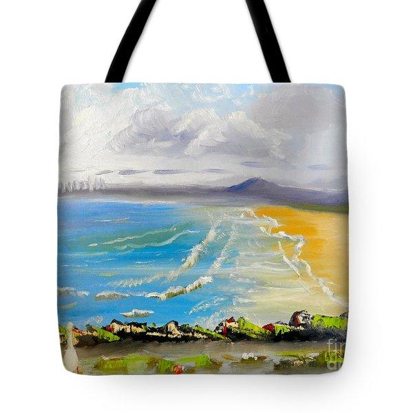 Towradgi Beach Tote Bag by Pamela  Meredith