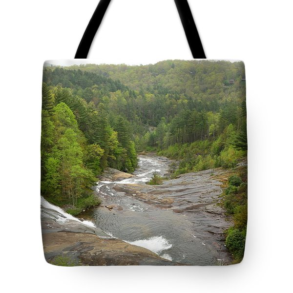 Tote Bag featuring the photograph Toxaway Waterfalls by Bob Sample