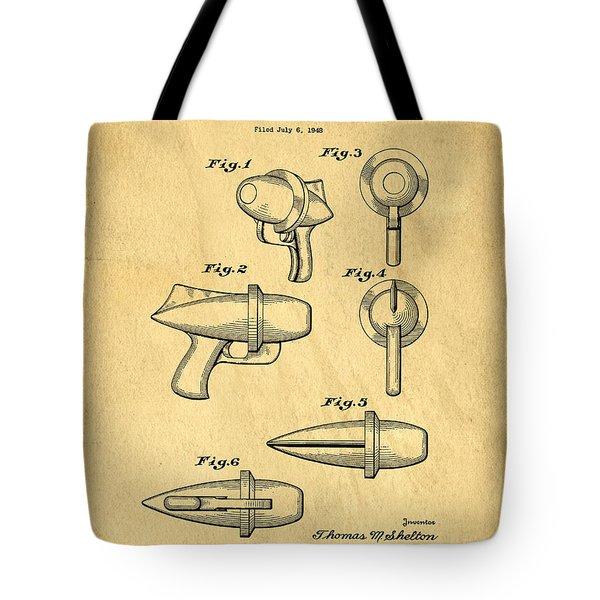 Toy Ray Gun Patent Tote Bag