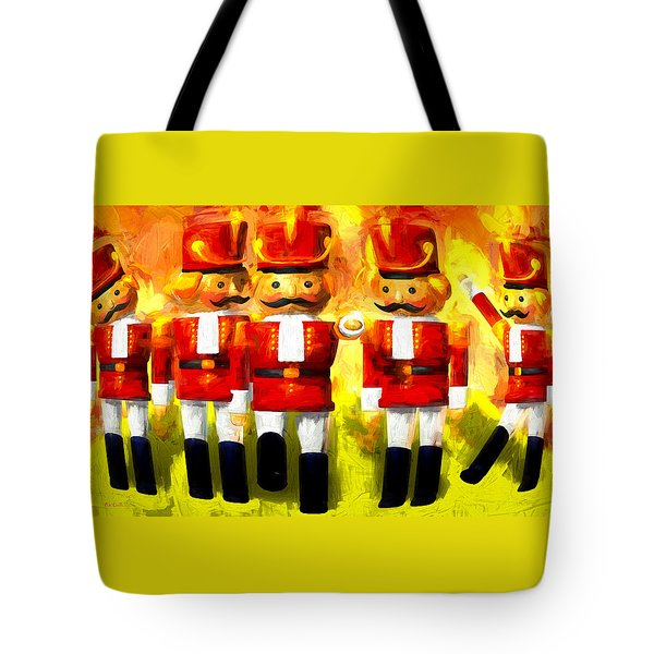 Toy Soldiers Nutcracker Tote Bag by Bob Orsillo
