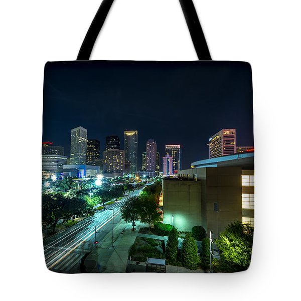 Toyota Center And Downtown Houston Tote Bag