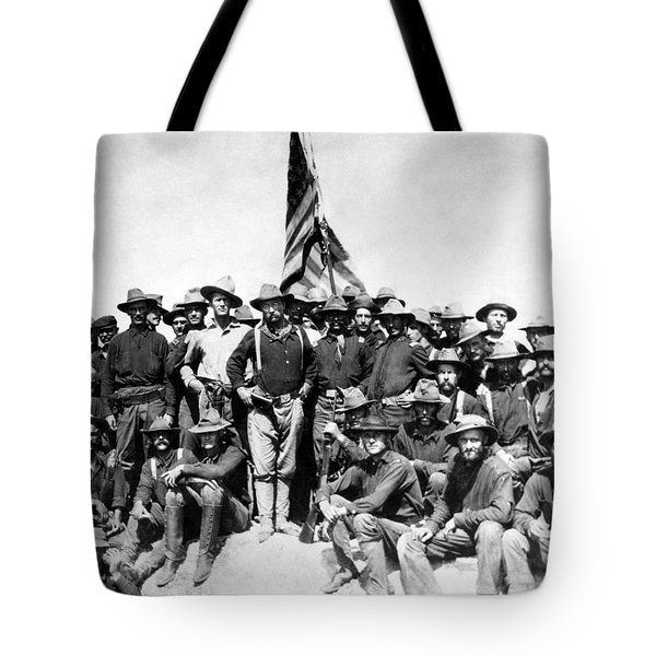 Tr And The Rough Riders Tote Bag
