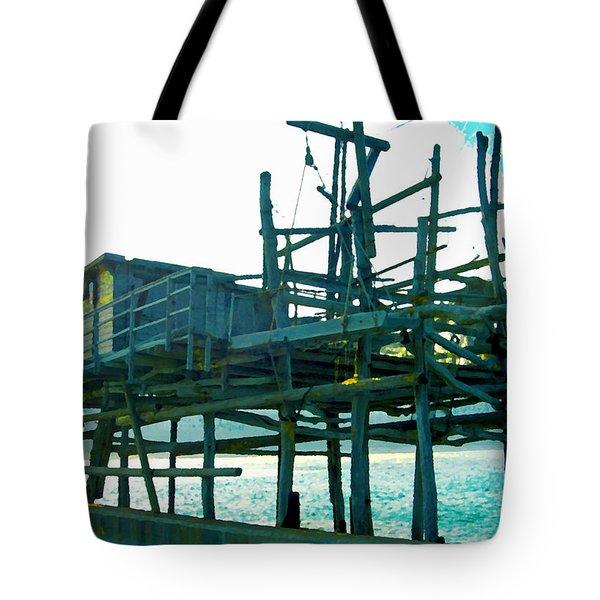 Trabocco 3 - Fishermen Stuff Tote Bag by Marcello Cicchini