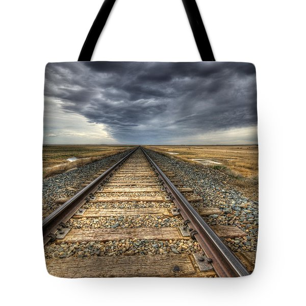 Tracks Across The Land Tote Bag by Bob Christopher