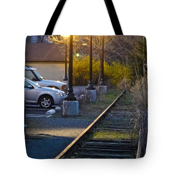 Tracks At Dusk Tote Bag