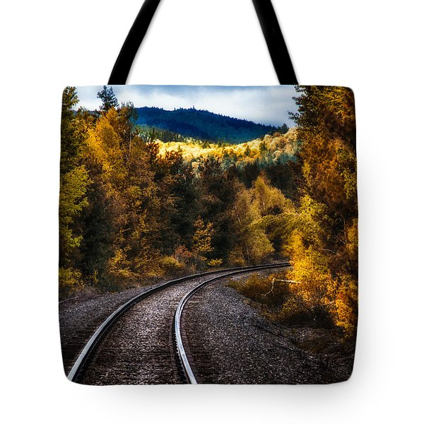 Tracks Through The Mountains  Tote Bag by Bob Orsillo
