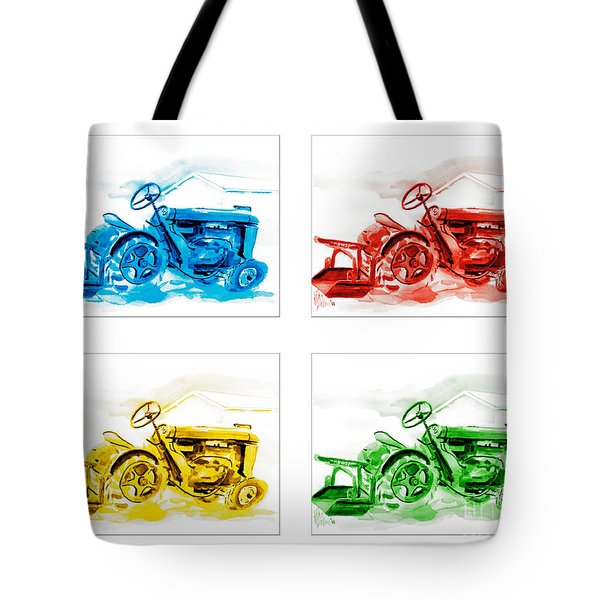 Tractor Mania  Tote Bag by Kip DeVore