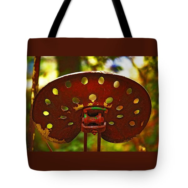 Tractor Seat Tote Bag