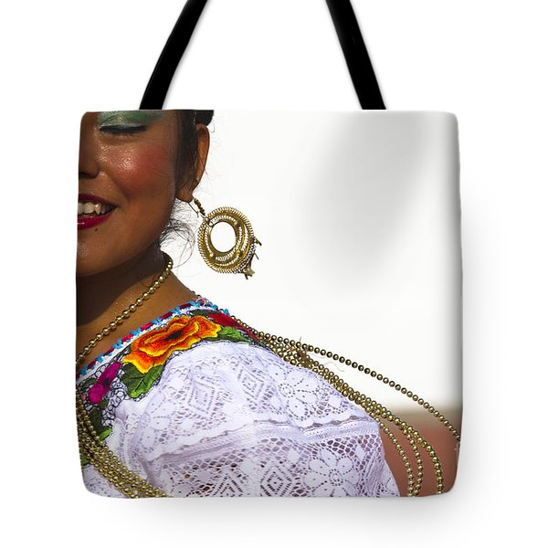 Traditional Ethnic Dancers In Chiapas Mexico Tote Bag by David Smith