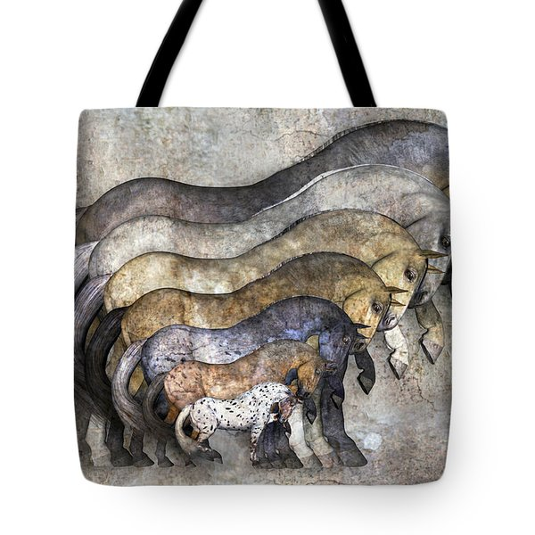 Traditional Horses Tote Bag
