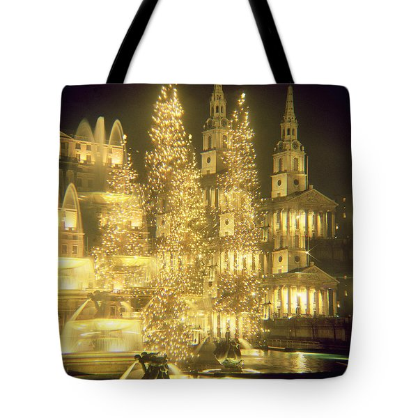 Trafalgar Square Christmas Lights Tote Bag