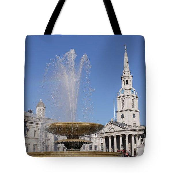 Trafalgar Square Fountain. Tote Bag