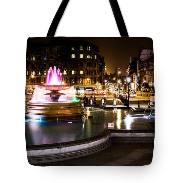 Tote Bag featuring the photograph Trafalgar Square by Matt Malloy