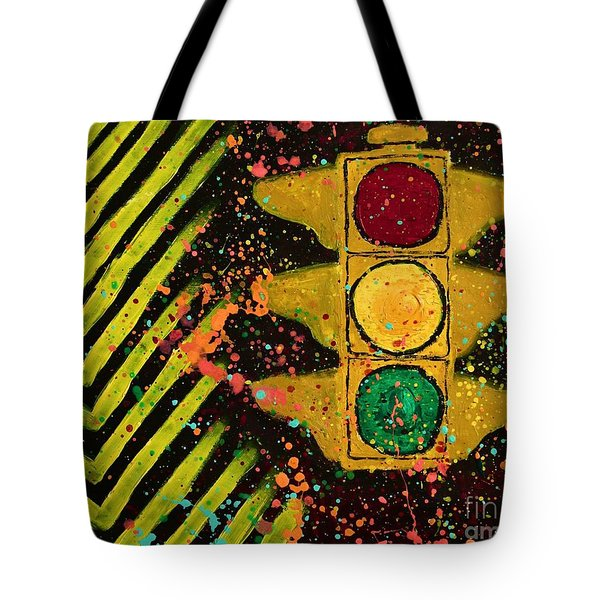 Traffic Jam Cropped Tote Bag