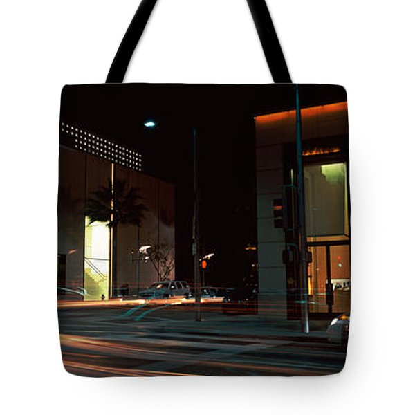 Traffic On The Road, Rodeo Drive Tote Bag by Panoramic Images