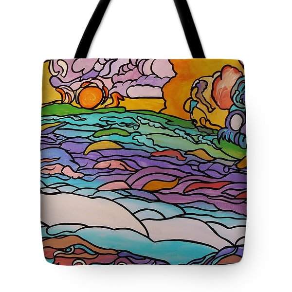Tote Bag featuring the painting Tragic by Barbara St Jean