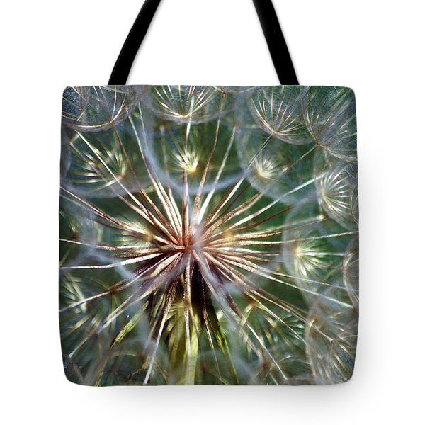 Tote Bag featuring the photograph Tragopogon Dubius Yellow Salsify Flower Fruit Seed by Karon Melillo DeVega