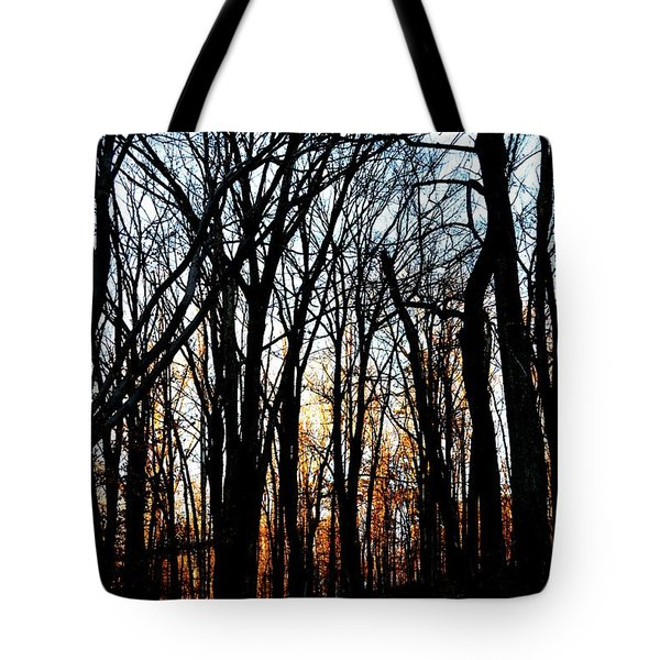 Trail Light Fading Tote Bag