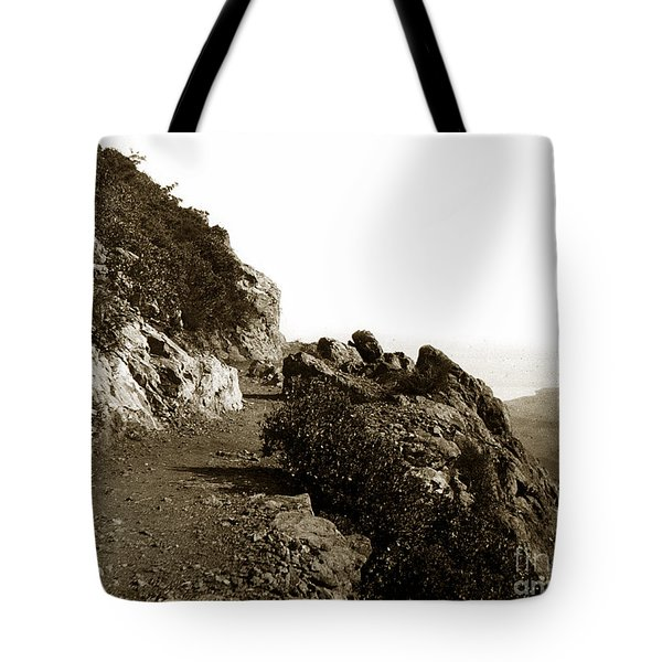 Tote Bag featuring the photograph Trail On Mt. Tamalpais Marin Co California Circa 1902  by California Views Mr Pat Hathaway Archives