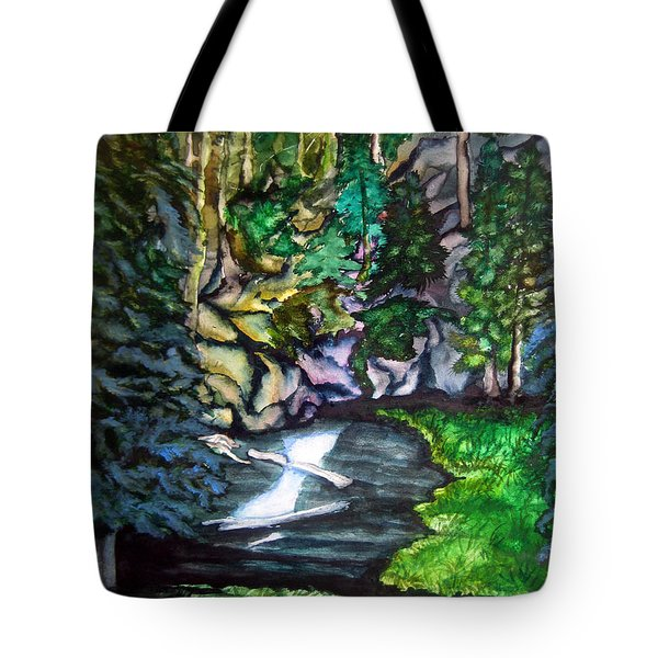 Trail To Broke-off Tote Bag by Lil Taylor