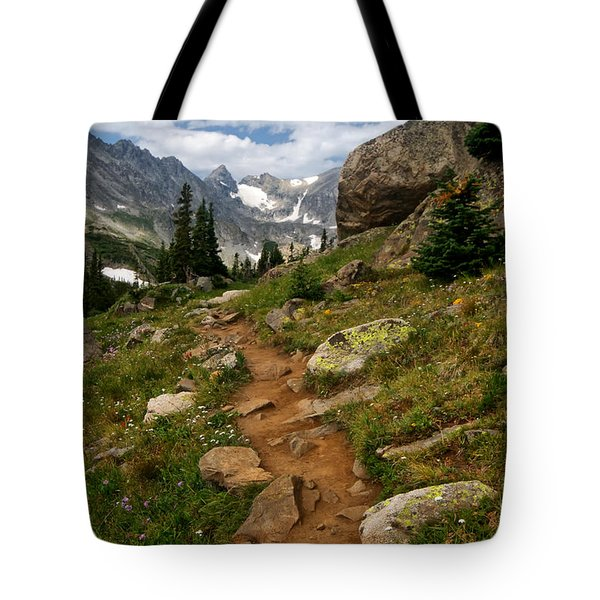 Trail To Lake Isabelle Tote Bag by Ronda Kimbrow