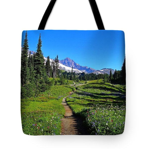Trail To Mazama Ridge Tote Bag
