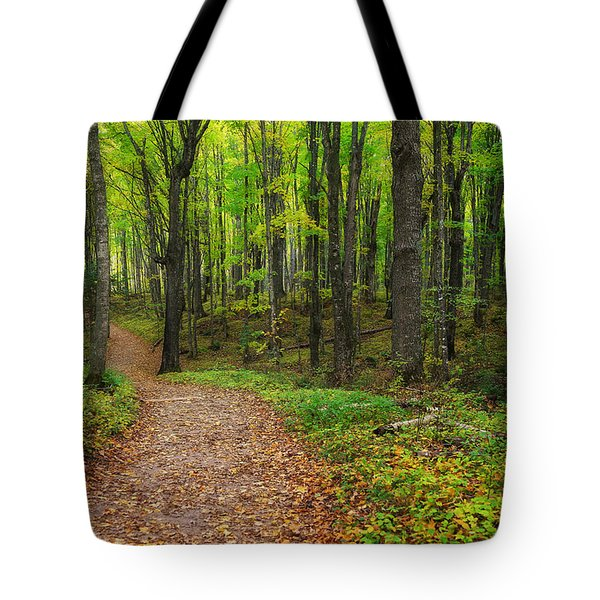 Trail To Miners Falls Tote Bag by Rachel Cohen